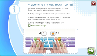 Touch Typing Simulator